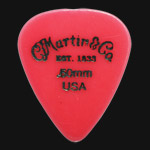 C F Martin Number 5 Delrin Fluorescent Red 0.50mm Guitar Picks