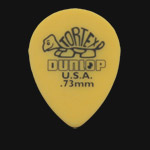 Dunlop Tortex Small Tear Drop 0.73mm Yellow Guitar Picks