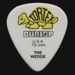 Dunlop Tortex Wedge 0.73mm Yellow Guitar Picks