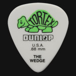 Dunlop Tortex Wedge 0.88mm Green Guitar Picks