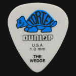 Dunlop Tortex Wedge 1.0mm Blue Guitar Picks